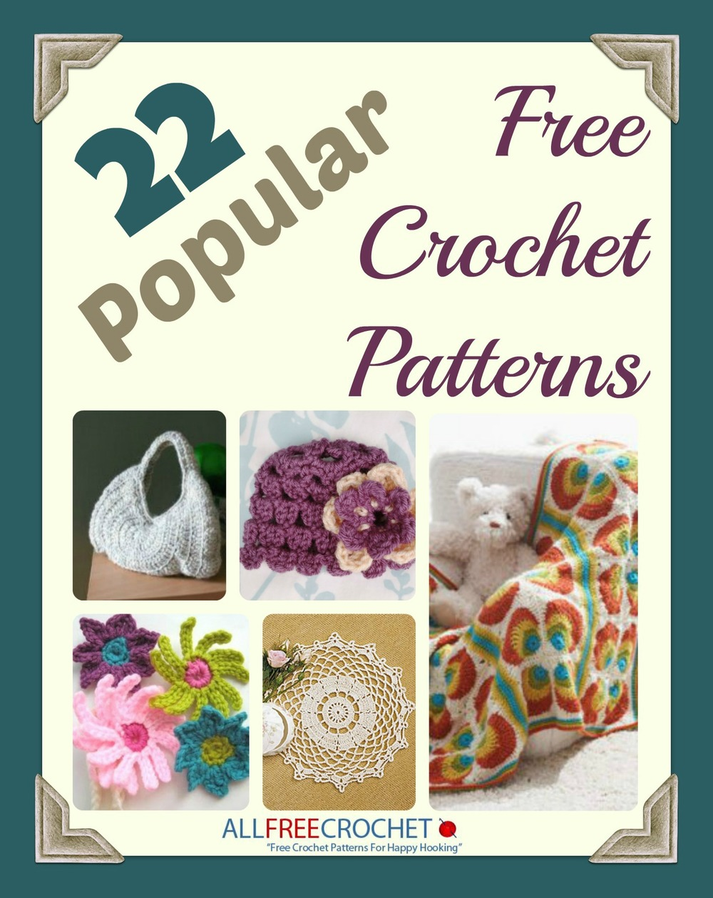 22 Popular Free Crochet Patterns Ebook Allfreecrochet