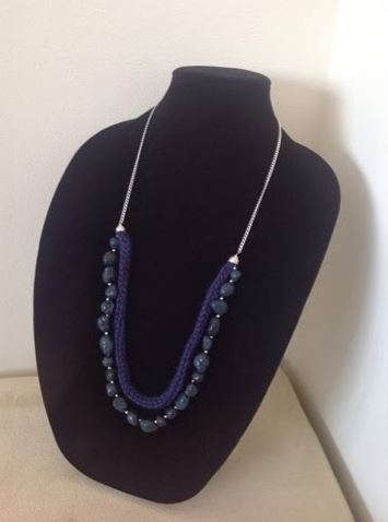 Beautiful Beaded Knit Necklace