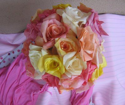 Pretty Coffee Filter Roses
