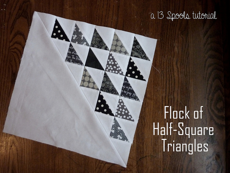 Flock Of Geese Hst Block Favequilts Com