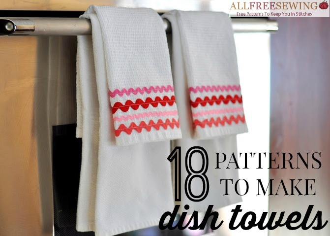 24 Patterns To Make Dish Towels Allfreesewing Com