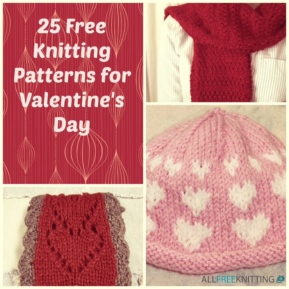 25 free knitting patterns for valentines day allfreeknitting bankloansurffo Images