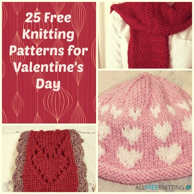 25 Free Knitting Patterns for Valentines Day