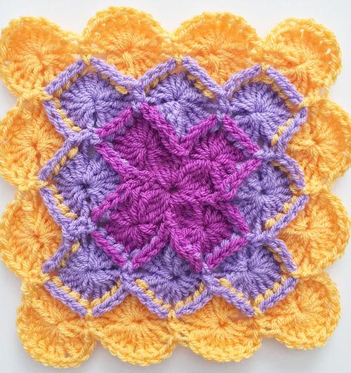 How To Crochet The Bavarian Square Allfreecrochetafghanpatterns