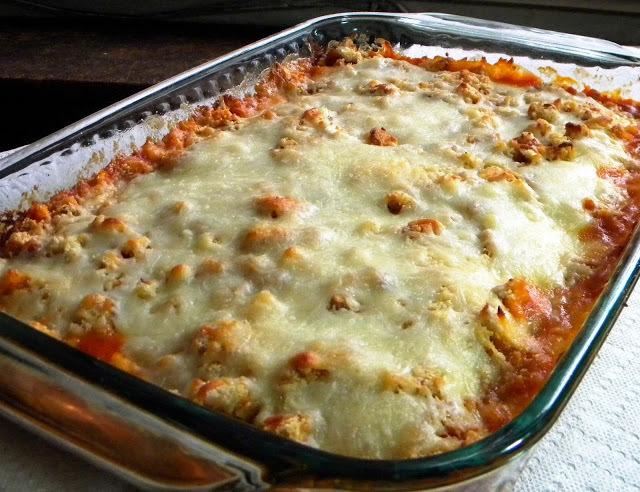 So Simple Chicken Parmesan Casserole Allfreecasserolerecipes Com