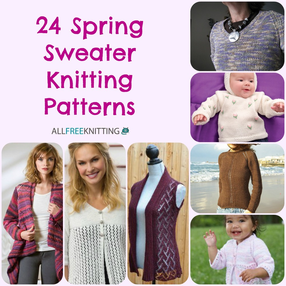 24 Spring Sweater Knitting Patterns | AllFreeKnitting.com