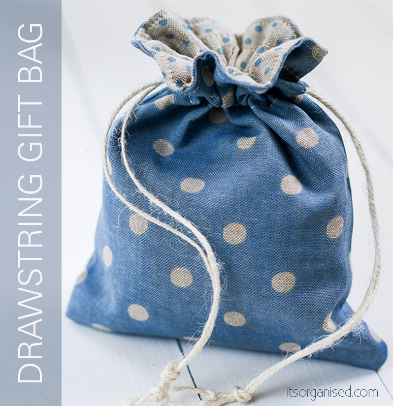 Drawstring gift bag free sewing pattern for Drawstring jewelry bag pattern