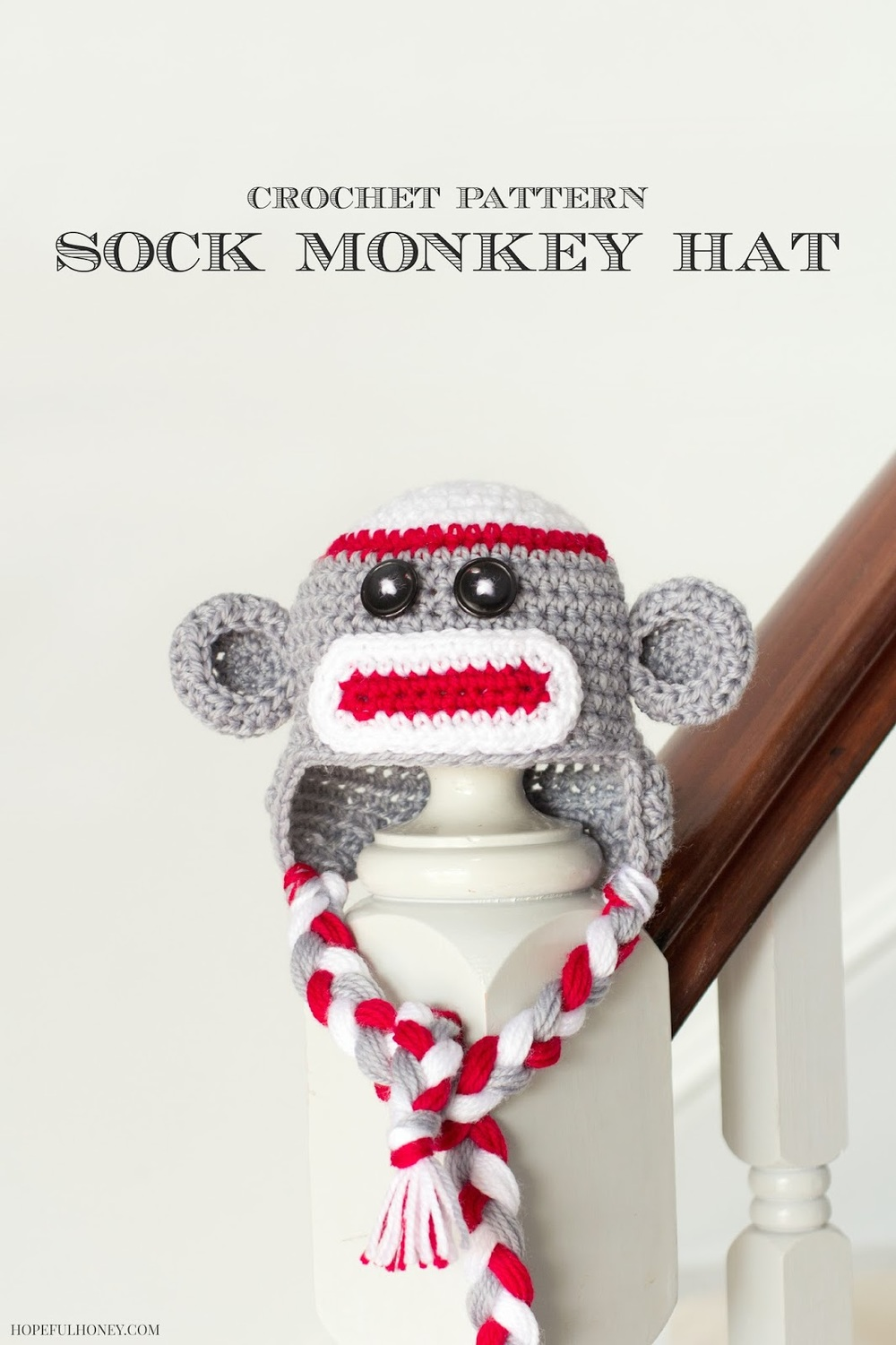 Sock Monkey Crochet Baby Hat Pattern FaveCrafts.com