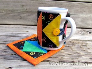 Art Deco Mug Rug Pattern and Sleeve