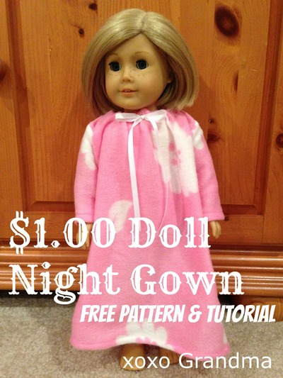 Dollar Store Doll Clothes Patterns