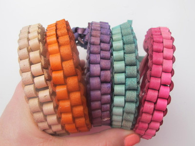 Colorful leather box braid bracelet allfreejewelrymaking colorful leather box braid bracelet fandeluxe Gallery