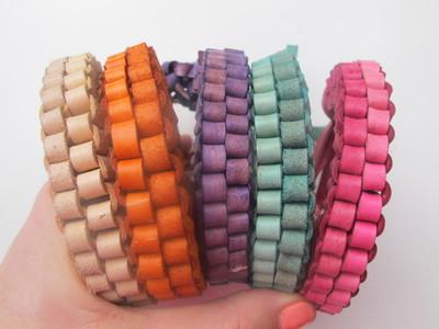 Colorful leather box braid bracelet allfreejewelrymaking colorful leather box braid bracelet fandeluxe Choice Image