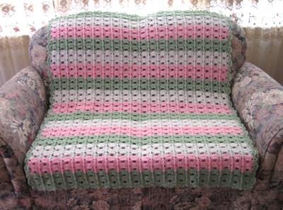 Arch Columns Crochet Afghan Pattern Favecrafts Com