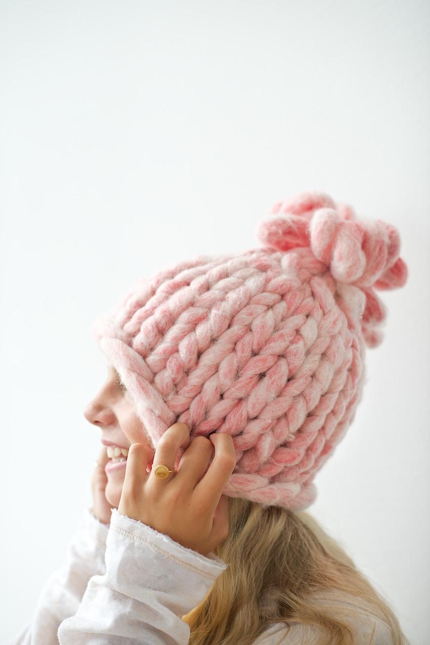 Chunky Bubblegum Hat | AllFreeKnitting.com
