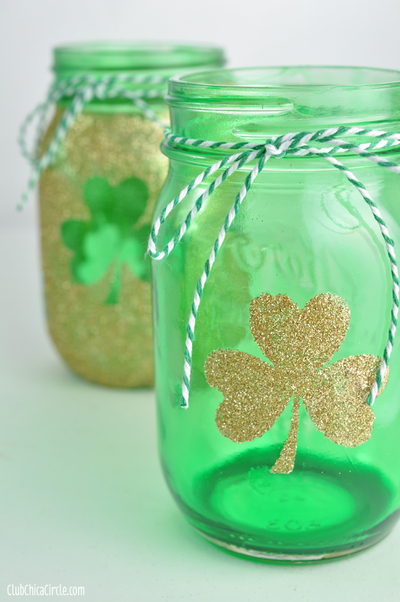 Lucky Mason Jar Luminaries