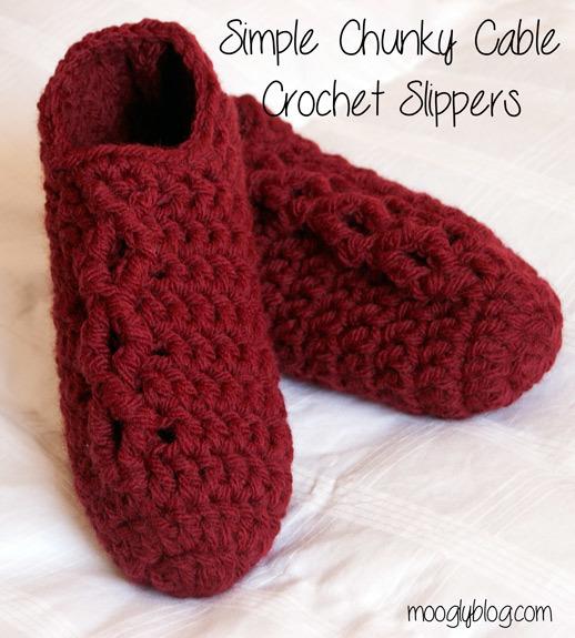 Sixty Minute Crochet Slippers Allfreecrochet