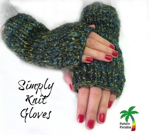 Easy Peasy Fingerless Gloves Allfreeknitting
