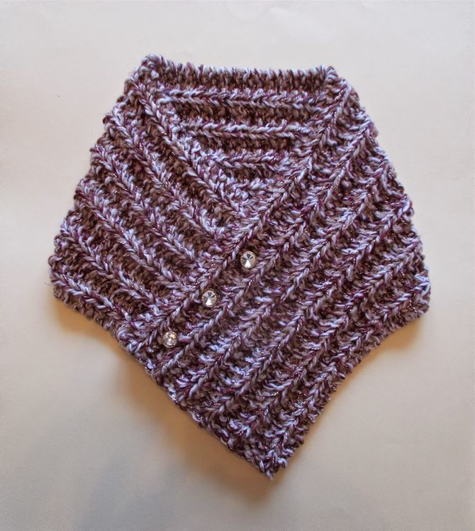 Tweedy Knit Neck Warmer | AllFreeKnitting.com