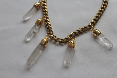 Rough-Cut Crystal Necklace