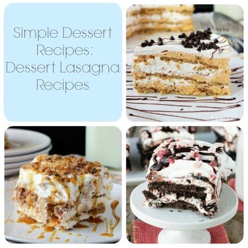 Simple Dessert Recipes: 13 Dessert Lasagna Recipes