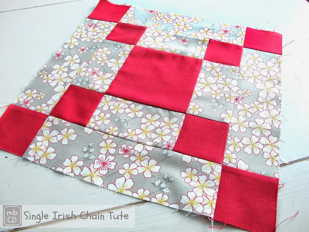 Bold And Beautiful Irish Chain Quilt Block Favequilts Com