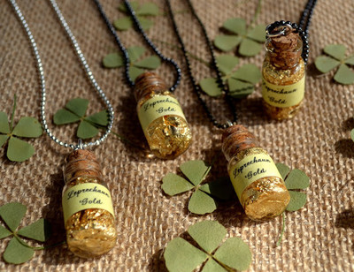 Leprechaun Gold DIY Necklace
