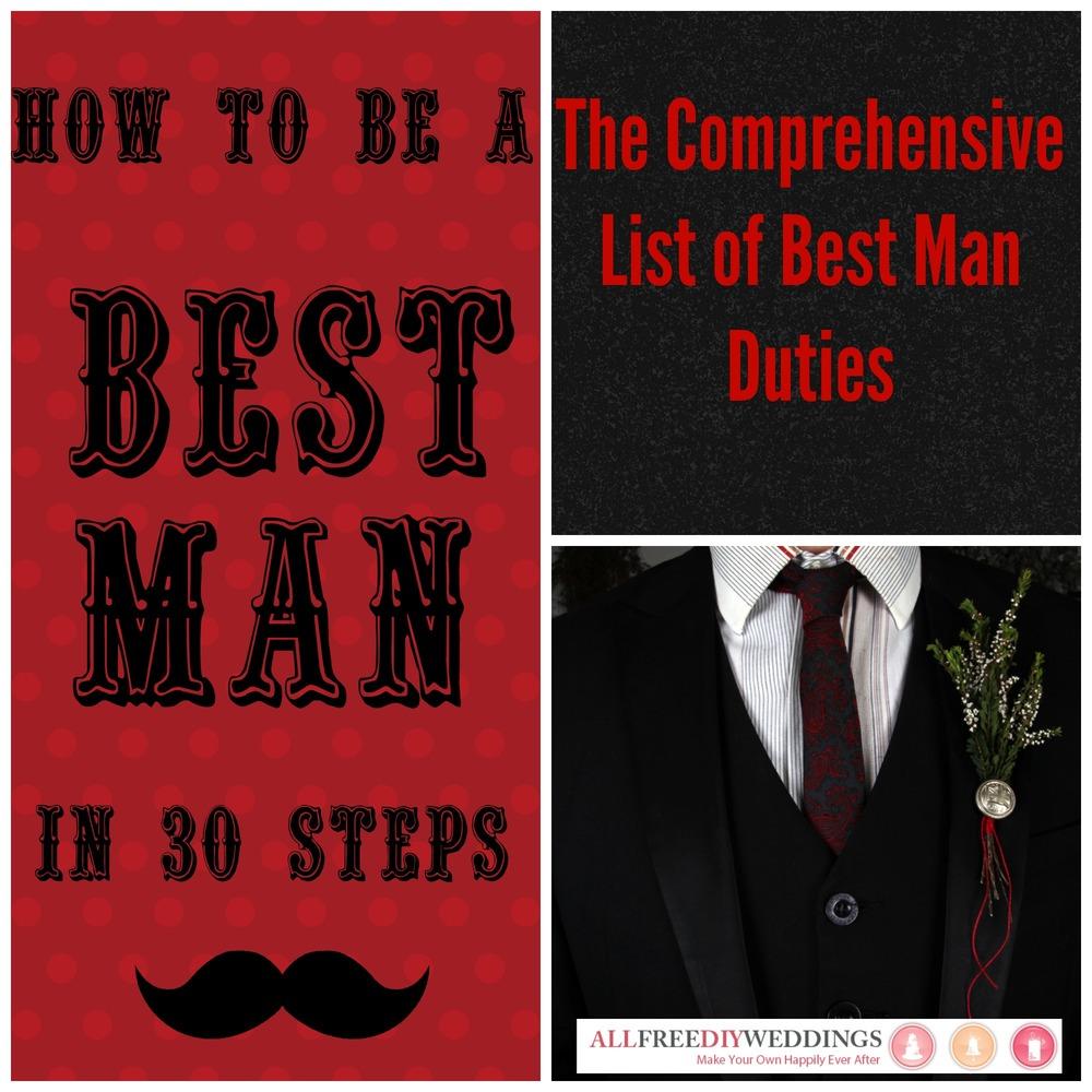 Duties Of A Best Man