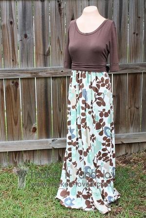 Woman's Knit Shirt Into Dress