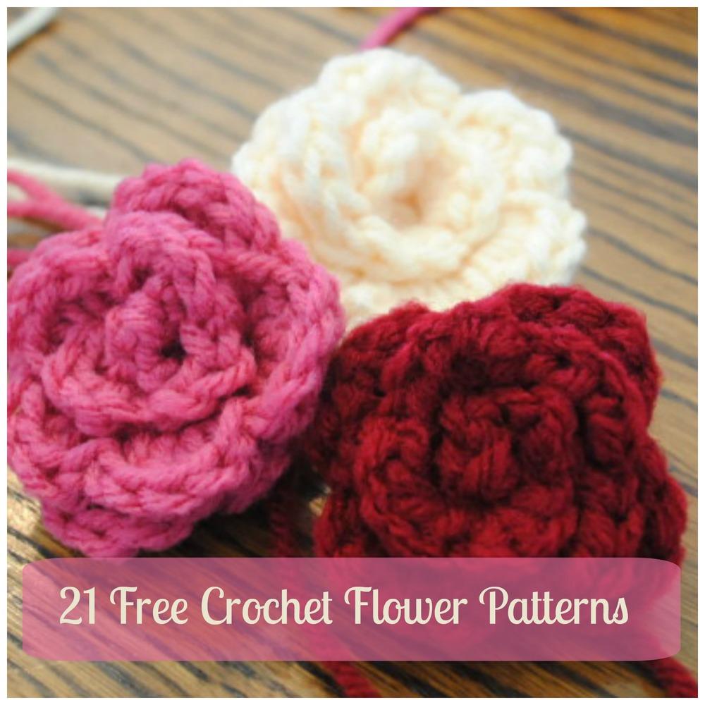 Free Crochet Flower Patterns To Print : 21 Free Crochet Flower Patterns + Daisy Video ...