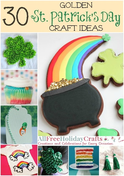 Golden St Patricks Day Craft Ideas
