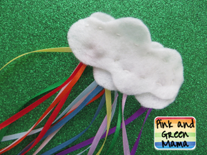 Rainbow Cloud Barrette