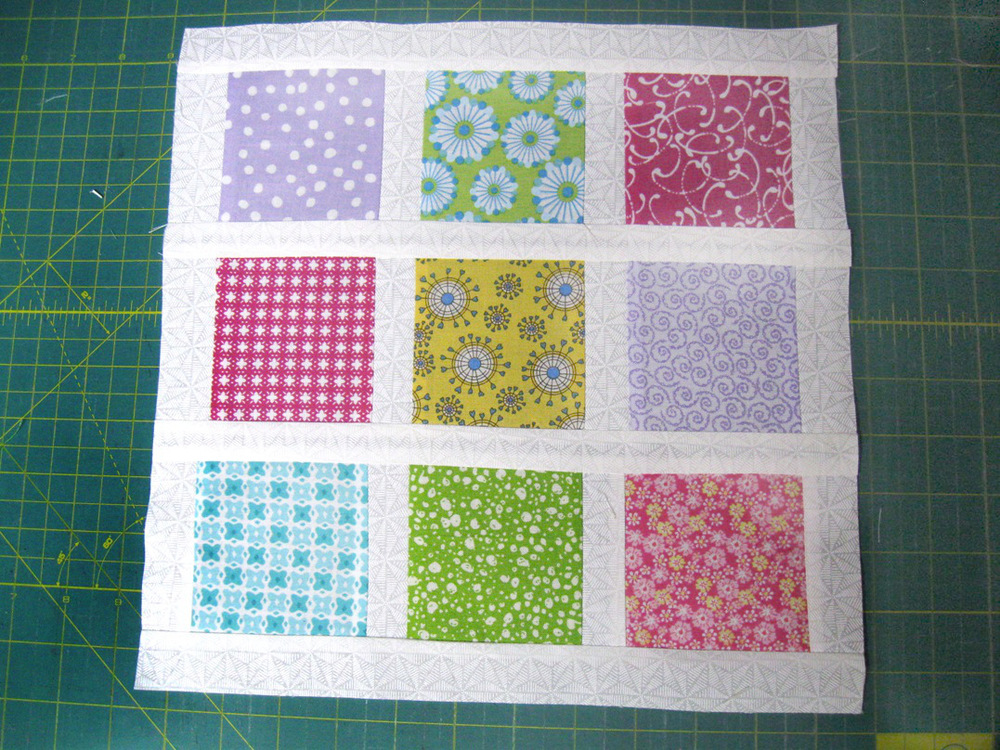 Brady Bunch Inspired Nine Patch Block | FaveQuilts.com : nine block quilt pattern - Adamdwight.com