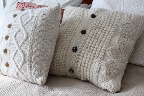 Upcycled Sweater Pillowcase