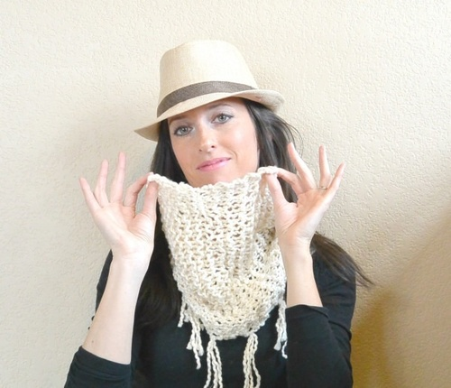 Easiest Ever Spring Scarf Knitting Pattern Favecrafts