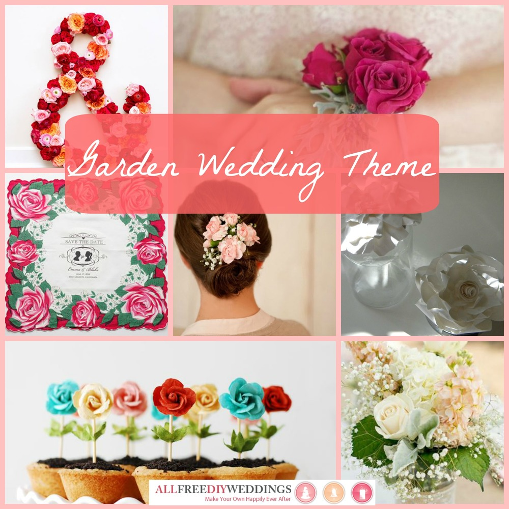 Wedding Themes Garden Wedding AllFreeDIYWeddingscom