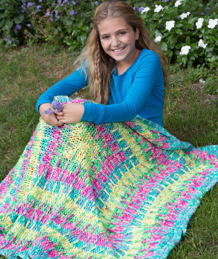 Smoothie Squares Crochet Blanket