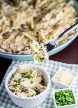 Cheesy Slow Cooker Chicken and Noodles