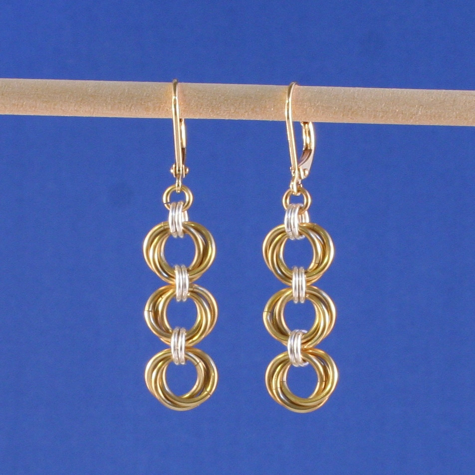Tri-Mobius Chainmaille Earrings | AllFreeJewelryMaking.com