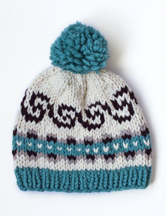 Babies Hats Knitting Patterns : Seamless Fair Isle Hat AllFreeKnitting.com