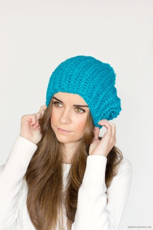 Blue Beret Crochet Beanie Pattern Favecrafts