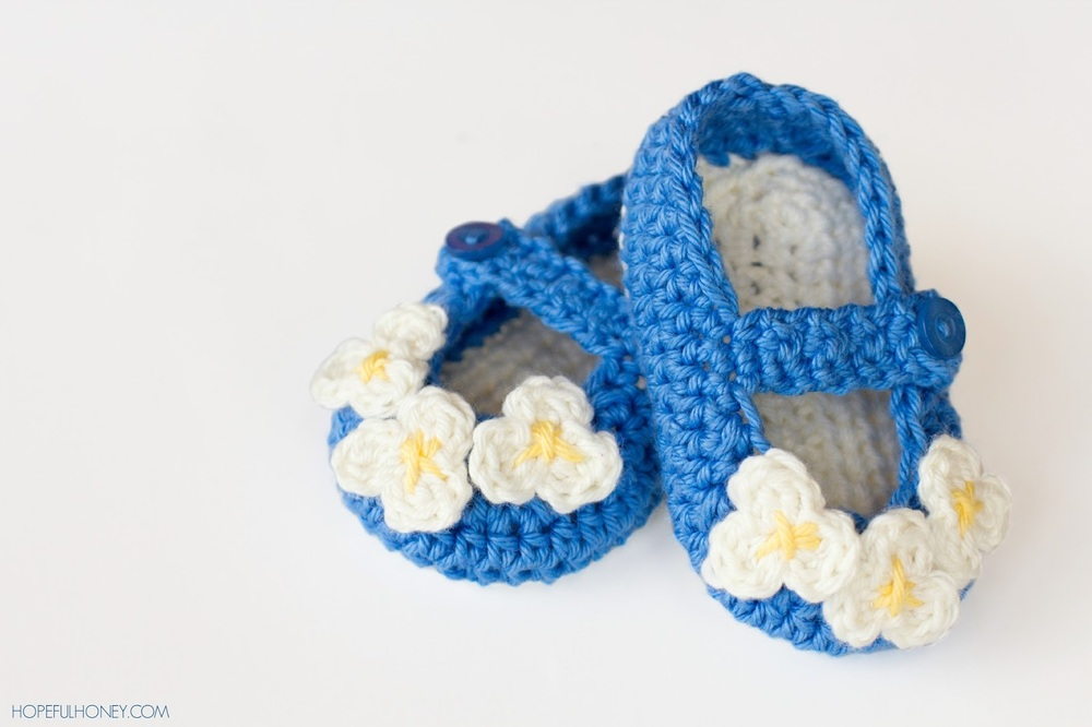 Mary Jane Baby Bootie Crochet Pattern Favecrafts