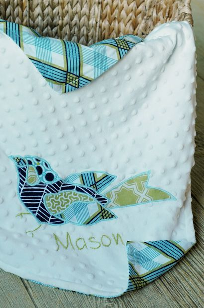 Applique Baby Blanket | AllFreeSewing.com