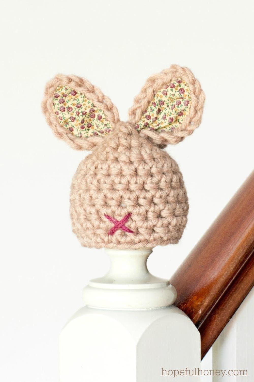 Bitty Baby Bunny Crochet Hat Pattern | AllFreeHolidayCrafts.com