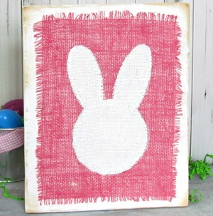 Burlap Bunny Easter Decoration