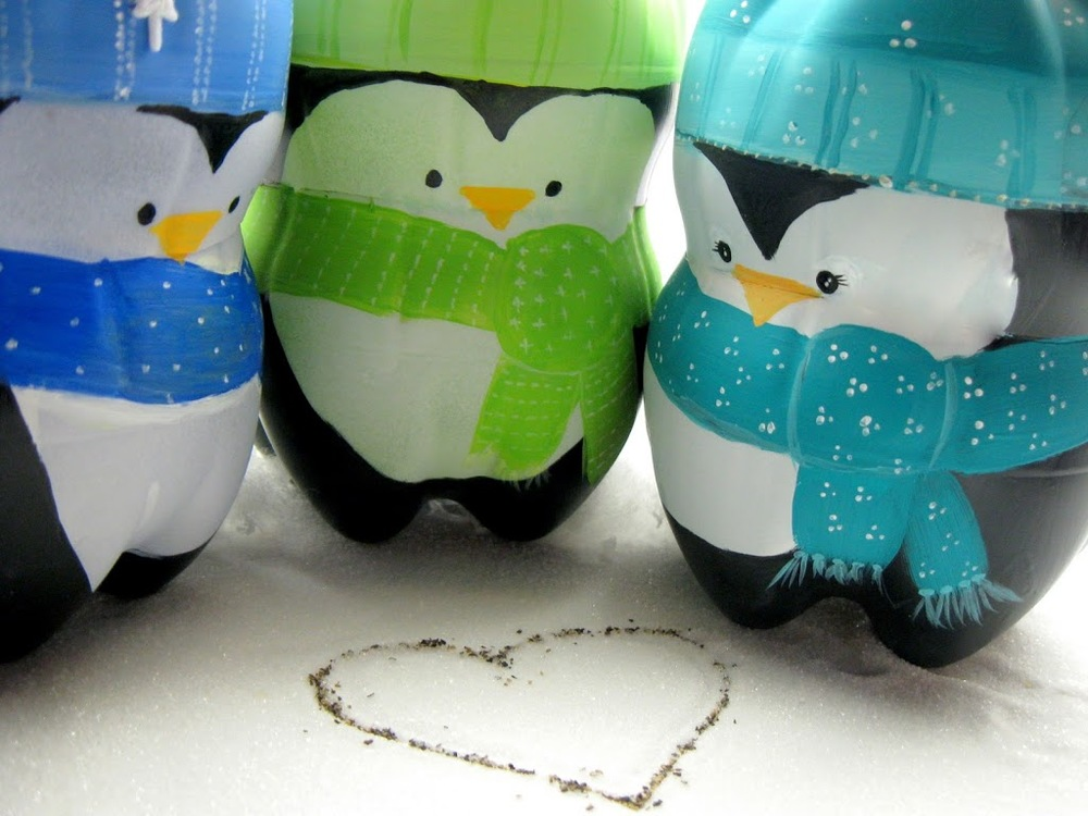 Recycled penguins easy christmas craft for Christmas crafts from recycled materials