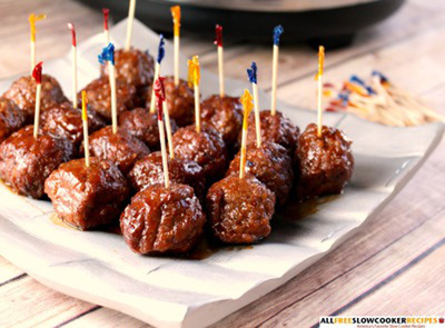 Slow Cooker Party Meatballs
