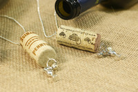 Pretty Pendant Charm Necklace Wine Cork Craft