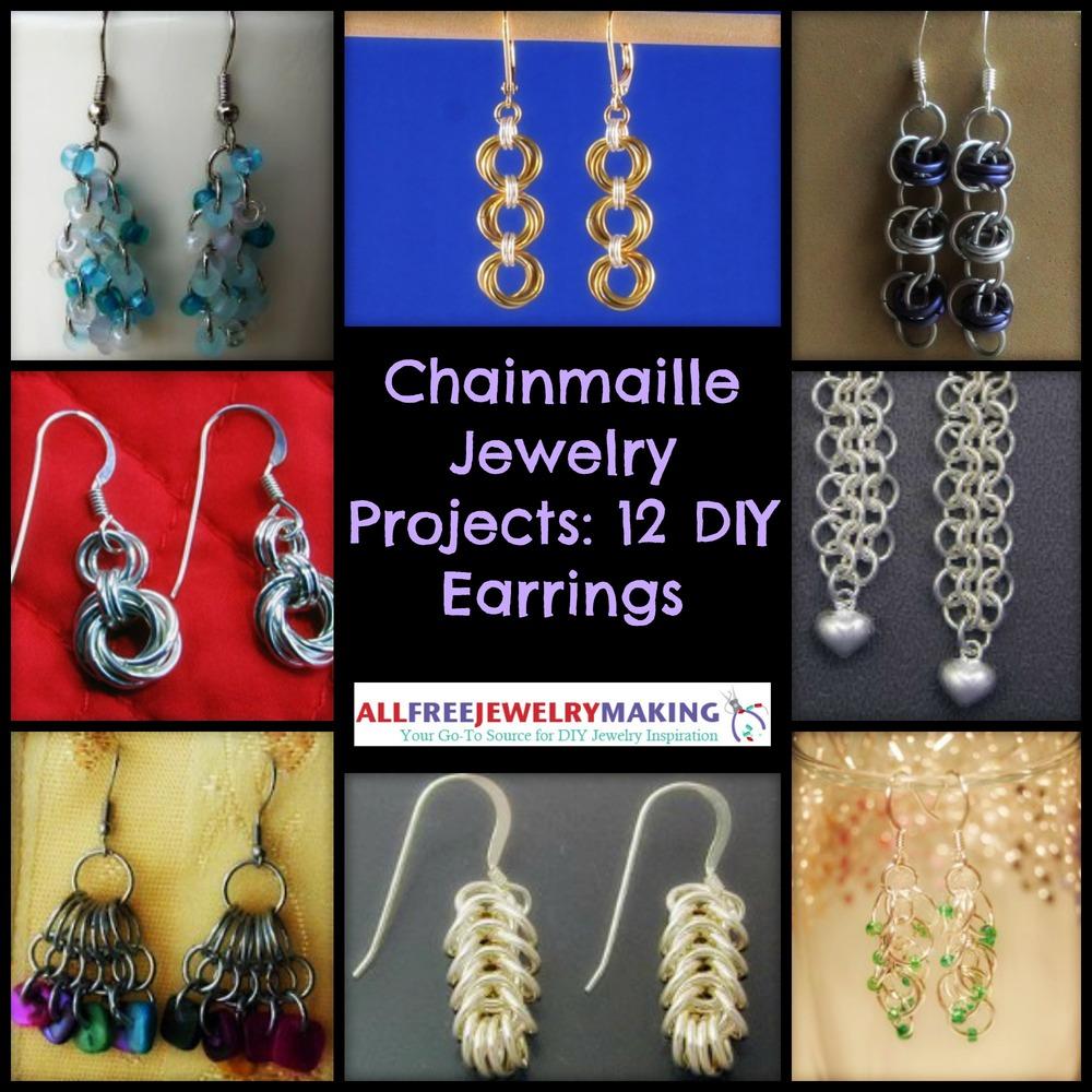 Chainmaille Jewelry Projects 12 DIY Earrings AllFreeJewelryMakingcom
