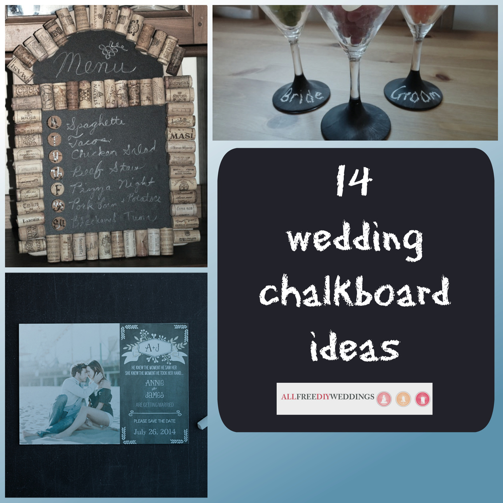 14 Wedding Chalkboard Ideas