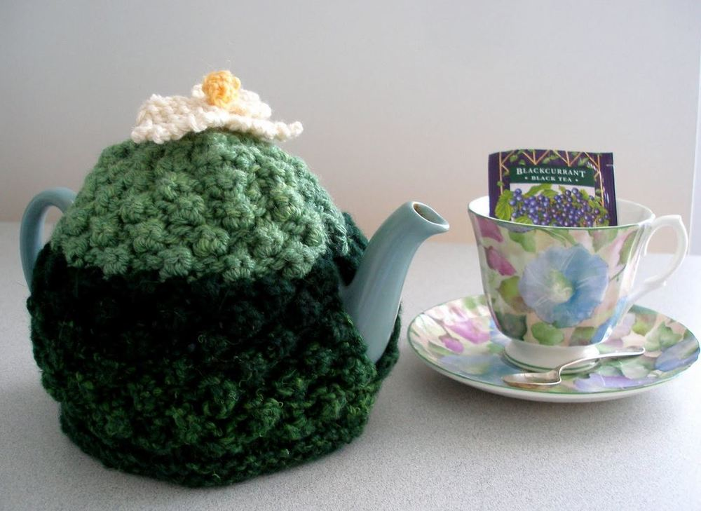 Flower Power Tea Cozy Allfreeknitting